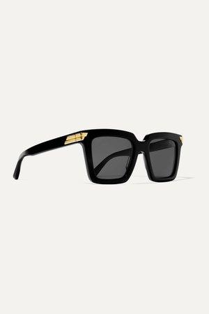 Black Oversized square-frame acetate sunglasses | Bottega Veneta | NET-A-PORTER