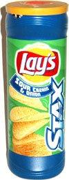 Lay's Stax Sour Cream & Onion Potato Crisps