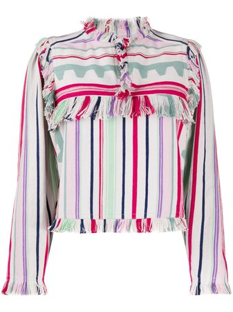 Isabel Marant Fringed Striped Top - Farfetch