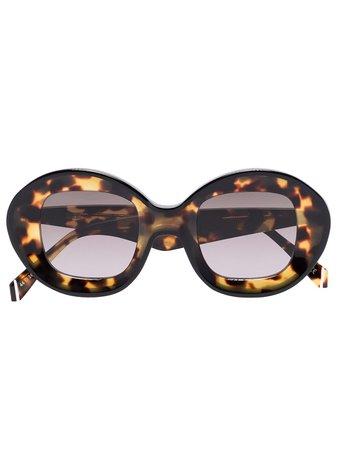 Kaleos Arcos round-frame Tortoiseshell Sunglasses - Farfetch