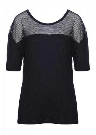 ATTITUDE CLOTHING // Mesh Plus Size T-Shirt
