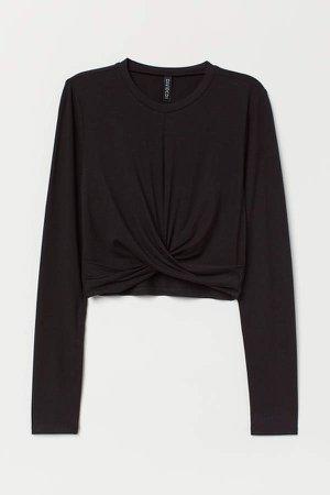 Short Jersey Top - Black