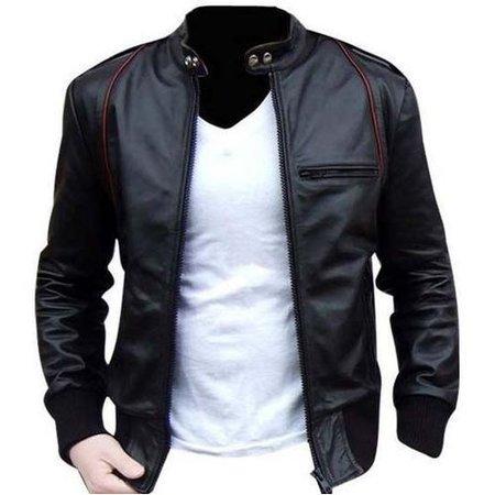 black-leather jacket