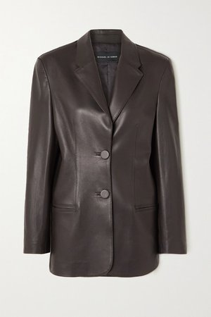 Boy Leather Blazer - Brown