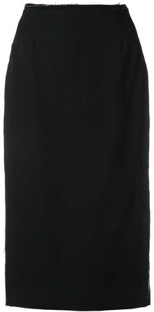 waist high split pencil skirt