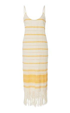Jaline Annie Handwoven Backless Cotton Dress