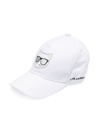 Shop white Karl Lagerfeld Kids Choupette cap with Express Delivery - Farfetch