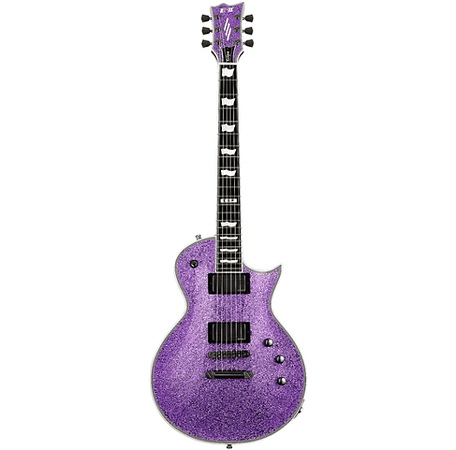 purple guitar glitter