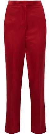 Satin-twill Straight-leg Pants