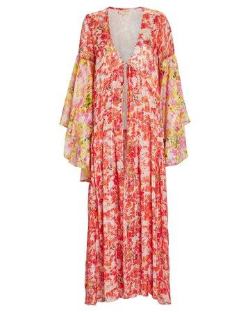 Rococo Sand Striped Floral Chiffon Robe | INTERMIX®