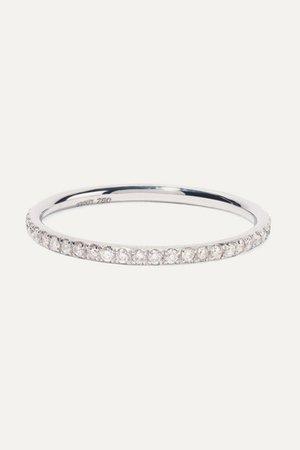 Ileana Makri | Thread 18-karat white gold diamond ring | NET-A-PORTER.COM