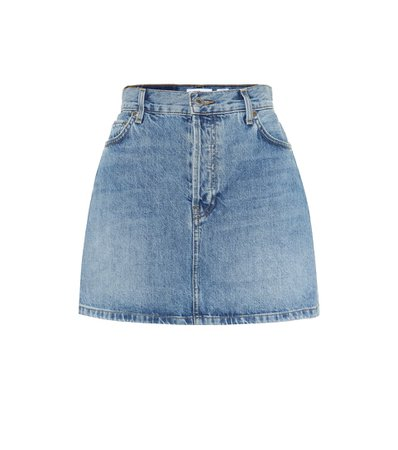 Re/Done - 60s high-rise denim miniskirt   Mytheresa