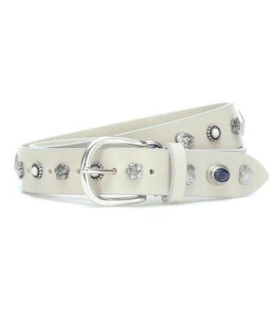 Luke embellished leather belt