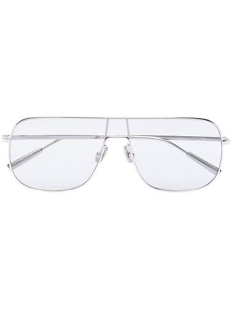 Ambush Aviator Clear Lens Sunglasses 12111938 Silver | Farfetch