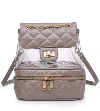 Nude Gold Cushion Backpack