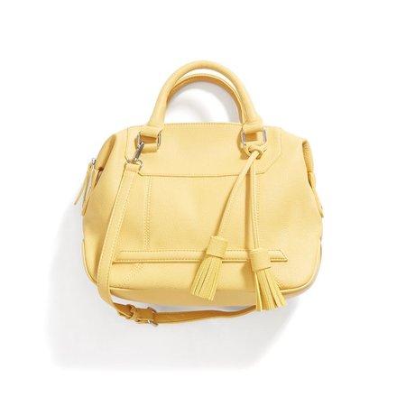 pastel yellow satchel bag