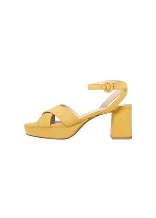 MANGO Crossover platform sandals