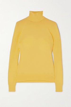 Yellow Knitted turtleneck sweater | Bottega Veneta | NET-A-PORTER