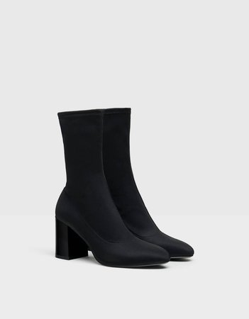 Stretchy high-heel ankle boots. - Best Sellers - Bershka United States