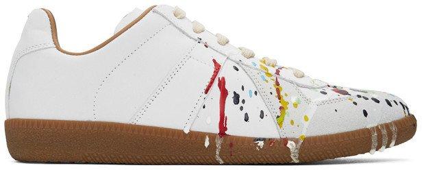 Grey Painted Replica Sneakers