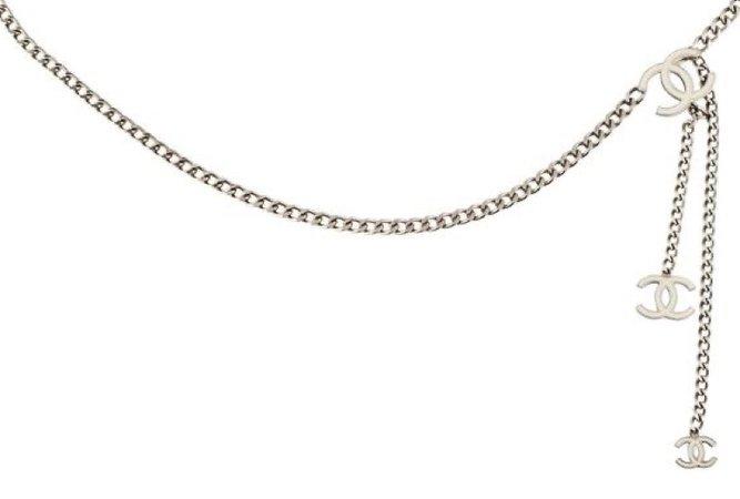 Silver Chanel Chain Belt