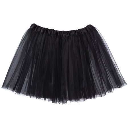HairBow Center - Adult Tutu Skirt, Classic Elastic 3 Layer Tulle Tutu for Women and Teens - Black - Walmart.com