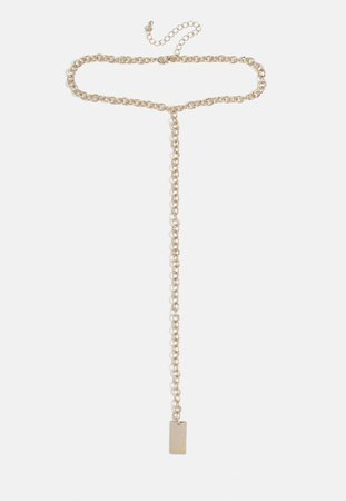 Gold Look Drop Chain Choker | Missguided