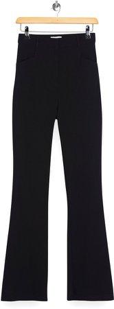Bengaline High Waist Flare Trousers