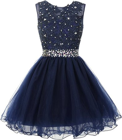 Amazon.com: Mamilove Women's Tulle Short Applique Beading Formal Homecoming Cocktail Party Dress 2 Lavender: Clothing