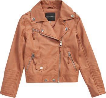 Kids' Faux Leather Moto Jacket   Nordstrom