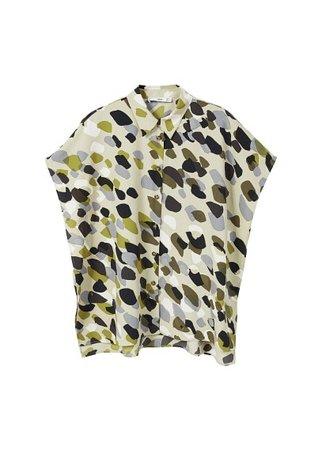 MANGO Camo-print shirt