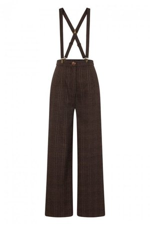 Collectif Mainline Glinda Librarian Check Trousers
