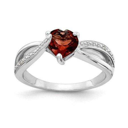 Rings | Shop Women's Silver Sterling Round Ring at Fashiontage | RLS6547/GA-SSBS45-4