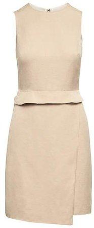 Linen-Blend Sheath Dress