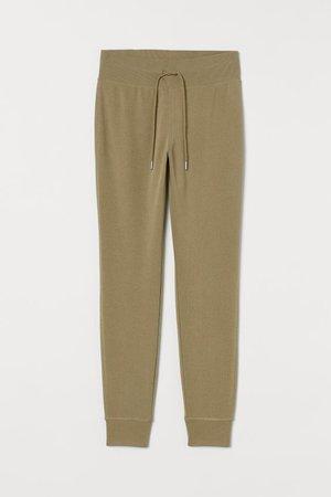Cotton-blend Joggers - Khaki green - Ladies | H&M US