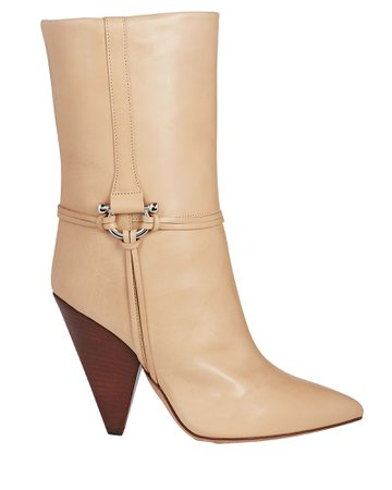 Isabel Marant Lunder Leather Ankle Boots | INTERMIX®