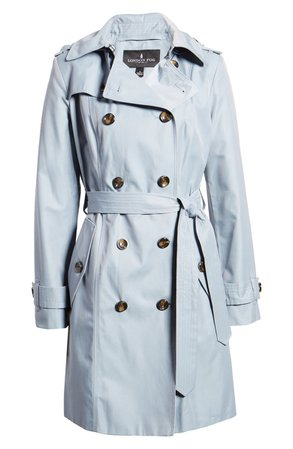 London Fog Double Breasted Trench Raincoat | Nordstrom