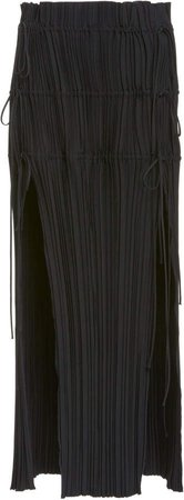 Dion Lee Pleated High-Rise Crepe Skirt