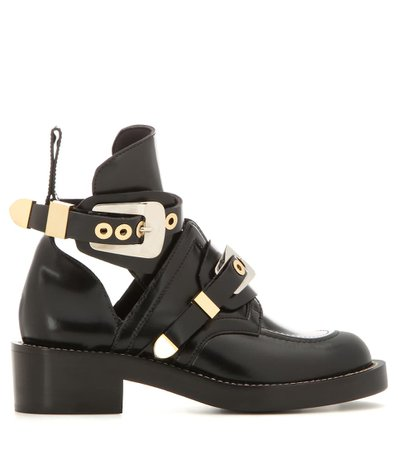 Ceinture Leather Derby Boots | Balenciaga - mytheresa.com