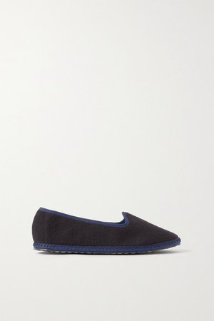 Cashmere Slippers - Navy