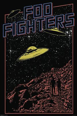 Foo Fighters Poster | Ufos | Foo Fighters Poster | EMP