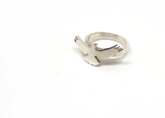 Sterling silver ring.Men ring.Wing gift.Bird ring.Hawk.Eagle jewelry.Eagle scout.Ring for men.Statement ring.Man jewelry.Falcon.Bird jewelry