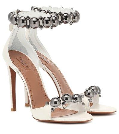 Embellished Leather Sandals | Alaïa - Mytheresa