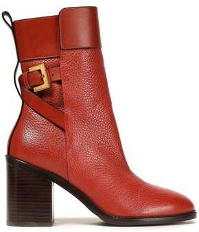 Joplin Pebbled-leather Boots