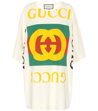 Gucci - Logo cotton T-shirt | Mytheresa