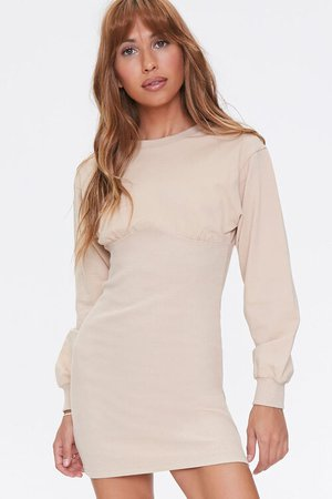 French Terry Bodycon Dress