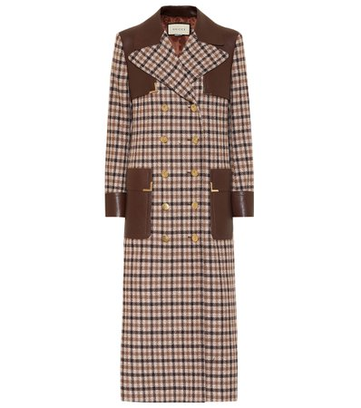 Gucci, Checked Wool-Blend Coat