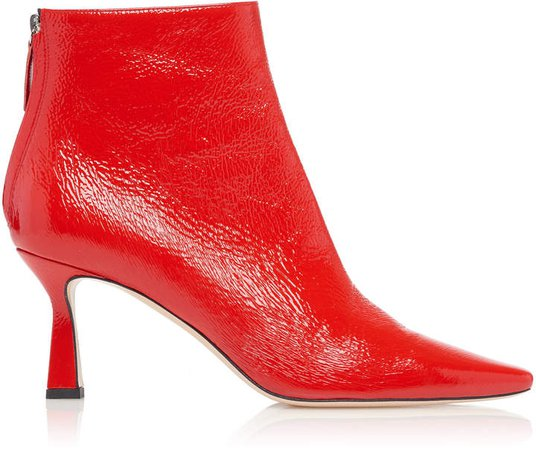 Lina Patent Leather Ankle Boots