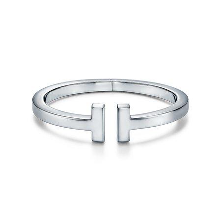 Tiffany T square bracelet in sterling silver, medium.   Tiffany & Co.