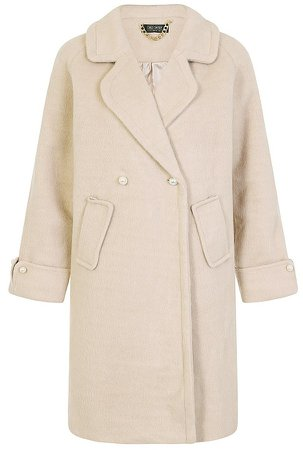 *Girls on Film Oatmeal Coat With Wool